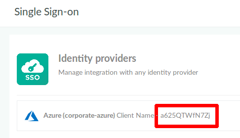 SSO Client Name